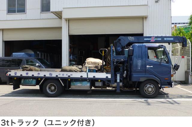 3tトラック(ユニック付き)